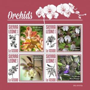 SIERRA LEONE - 2019 - Orchids - Perf 4v Sheet - MNH