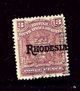 Rhodesia 86 Used 1909 Overprint