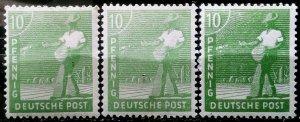 Germany Allied Occupation Mi 946 abc **