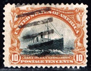 US STAMP #299 – 1901 10¢ Pan-American Exposition: Fast Ocean Navigation USED