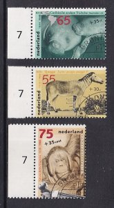 Netherlands   #B638-B640  cancelled  1988   man and the zoo