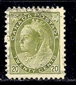 Canada  #84  Used  VF    Cat $150   -  Lakeshore Philat...