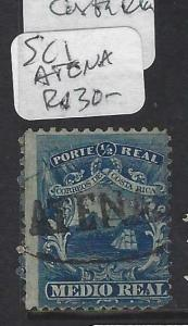 COSTA RICA   (P2302BB)  SC 1  ATENA IN OVAL CANCEL  VFU