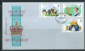 Falkland Islands 254-6 1977 Silver Jubilee Unaddressed FDC