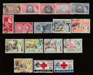 Bermuda a mainly used lot of early QE2 with high values