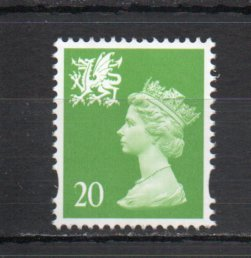 Great Britain - Wales WMMH70 MNH