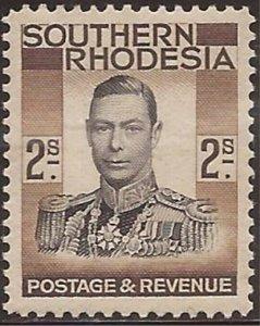 Southern Rhodesia - 1937 5s King George VI - Stamp MNH - Scott #52