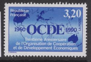 FRANCE SG3007 1990 ORG. FOR ECONOMIC CO-OPERATION & DEVELOPMENT MNH
