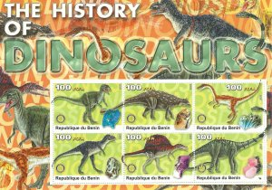 Benin   SS   Dinosaurs   Mint NH VF  2003 PD