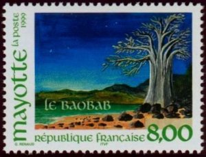 Mayotte 1999 #127 MNH. Baobab