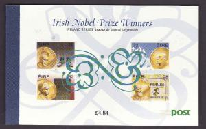 Ireland-Sc#946a//947b-complete booklet with 4 panes-Nobel Pe