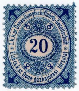 (I.B) Austria Cinderella : Danube Steamship Company 20kr
