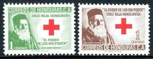 Honduras RA6-RA7, MNH. Postal Tax Stamps. Red Cross. Henri Dunant, 1964