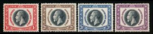 SOUTH WEST AFRICA 121-124 MINT LH 1935 SILVER JUBILEE KGV