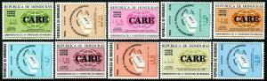 HERRICKSTAMP HONDURAS Sc.# C582-91 CARE