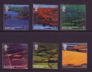 Great Britain Sc 2193-8 2004 N Ireland views stamp set mint NH
