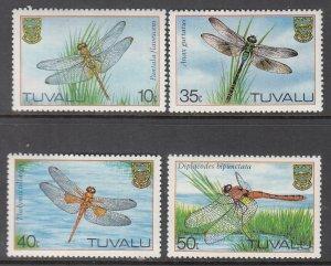 Tuvalu, Sc 200-203, MNH, 1983, Dragonflies, (LL01614)