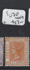 MALAYA STRAITS SETTLEMENTS (P1705B) QV   32C   SG 70        MOG