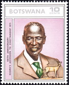 Botswana # 141 mnh ~ 10¢ Chief Khama The Great and Antelope