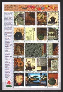 Micronesia. 1999. Small sheet 824-40. Millennium, the history of Chinese disc...