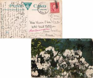 United States Connecticut Winsted Sta. A 1922 numeral duplex  DPO  2c Washing...