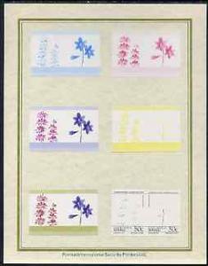 Tuvalu - Nanumaga 1985 Flowers (Leaders of the World) 50c...