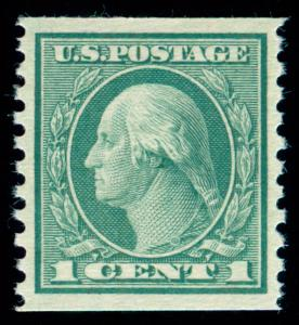 MOMEN: US STAMPS #452 COIL MINT OG NH PSE GRADED CERT XF-SUP 95