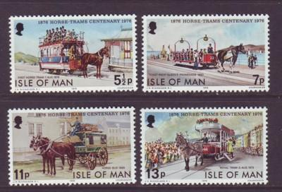 Isle of Man Sc 82-5 Horse Trams stamps NH