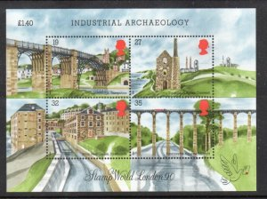 Great Britain Sc 1284 1989 Industrial Archaeology stamp sheet mint NH