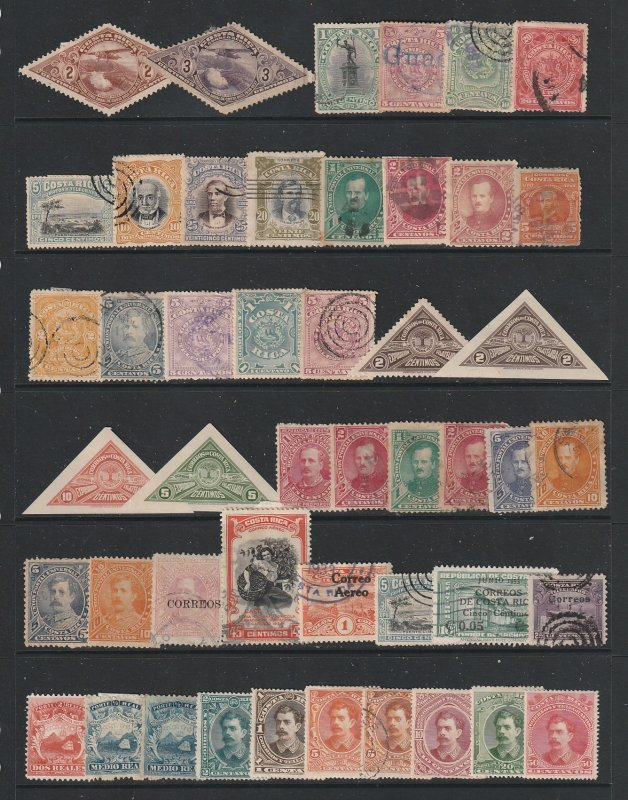 Costa Rica a small collection of earlies mainly used