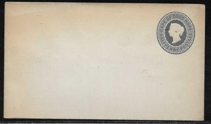 Cape of Good Hope Stationery Envelope H&G 1 Mint