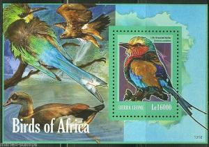 SIERRA LEONE   2014 BIRDS OF AFRICA  SOUVENIR SHEET MINT NH