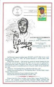 2016 20c JACKIE ROBINSON - Gene Locklear souvenir card