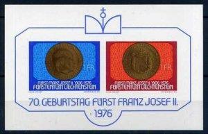 1976 Liechtenstein 649-50/B10 70 years to Prince Francois-Joseph II
