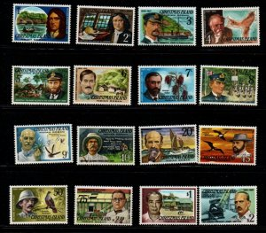 Christmas Island Sc 69-84 1977 Famous Men stamp set mint NH