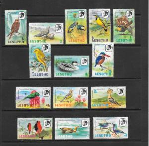 BIRDS - LESOTHO #321-334