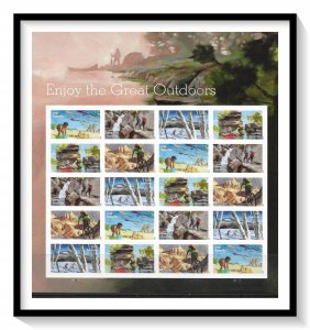 US #5479a The Great Outdoors Complete Pane MNH