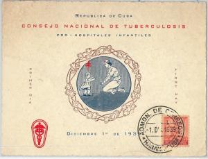59126 -  HABANA - POSTAL HISTORY: MAXIMUM CARD 1939  -  medicine TUBERCULOSIS