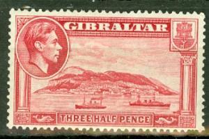 Gibraltar 109b mint CV $190