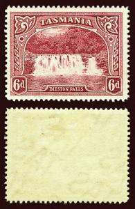 TASMANIA Scott #93 (SG 29) 1889 Dilston Falls unused HR