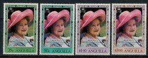 Anguilla #394-7* NH  CV $4.00 Queen Mum