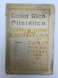 Costa Rica Filatelica Journal 1945