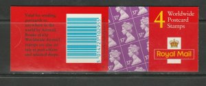 G.B. BOOKLET GL2, WORLDWIDE STAMPS, 4x37p , 1997 EXCELLENT CONDITION