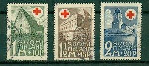 Finland 1931 Red Cross Fund sg282/4 cv£64+ (3v) VFU Stamps