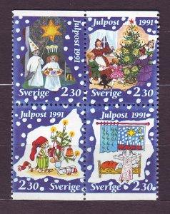 J23141 JLstamps 1991 sweden set mnh #1910-3 christmas