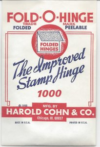 HINGES Folded Vintage at a price you won't believe ONLY $4.75 1000 in a package