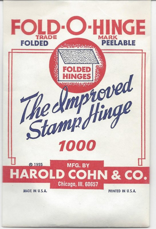 HINGES Folded Vintage at a price you won't believe ONLY $5.95 1000 in a package