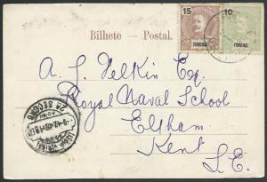 MADEIRA FUNCHAL 1902 postcard to UK........................................52976