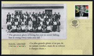 Canada 2806 on FDC - Nelson Mandela, Black History Month