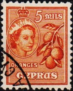 Cyprus. 1955 5m S.G.175 Fine Used